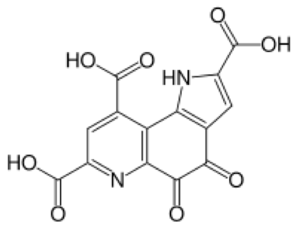 Molecular structure of PQQ
